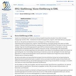 SVG/ Einführung/ Kurze Einführung in XML