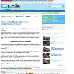 Rhein-Kreis Neuss: Rätsel um eingemauerte Schuhe - Meerbusch - Rhein-Kreis Neuss - Lokales