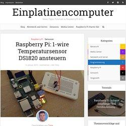 Raspberry Pi: 1-wire Temperatursensor DS1820 ansteuern