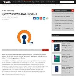 OpenVPN mit Windows einrichten - Sichere Verbindung - Sicherheit