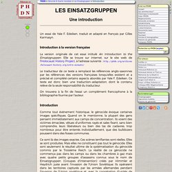 LES EINSATZGRUPPEN (Groupes d'intervention)