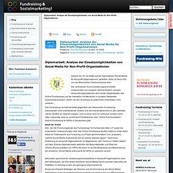 Diplomarbeit: Analyse der Einsatzmöglichkeiten von Social Media für Non-Profit-Organisationen