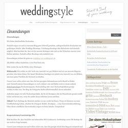 Einsendungen : weddingstyle-Hochzeitsblog