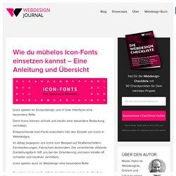 Wie du mühelos Icon-Fonts einsetzt – Eine Anleitung - Webdesign Journal
