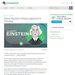 Albert Einstein's Unique Approach to Thinking