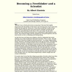 How To Become a Freethinker