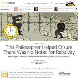 Albert Einstein and Henri Bergson's Great Showdown About the Nature of Time