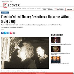 Einstein's Lost Theory Describes a Universe Without a Big Bang