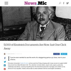 5,000 of Einstein's Documents Are Now Just One Click Away