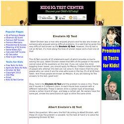 Einstein IQ Test
