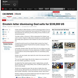 Einstein letter dismissing God sells for $330,000 US - World