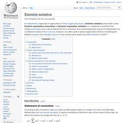 Einstein notation - Wikipedia