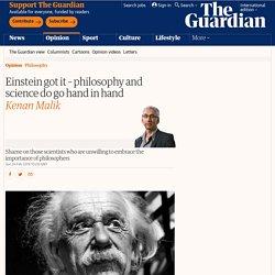 Einstein got it – philosophy and science do go hand in hand