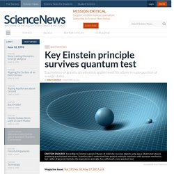 Key Einstein principle survives quantum test