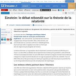 Sciences : Einstein: le débat rebondit sur la théorie de la relativité