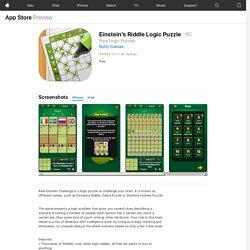 Einstein's Riddle Logic Puzzle on the AppStore (Klasszikus játék logikus gonolkodás fejlesztése)