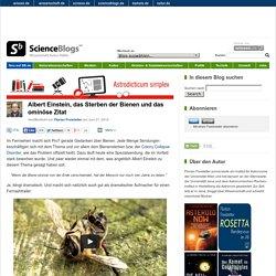 Albert Einstein, das Sterben der Bienen und das ominöse Zitat