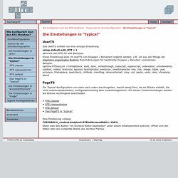 """Die Einstellungen in """"typical"""": Site42 - Antworten zu Fragen rund um TYPO3 und CSS"""
