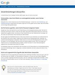 Mail-Konto überprüfen – Gut zu wissen – Google
