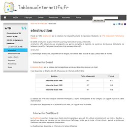 eInstruction & Interwrite - Fabricant de tableau blanc interactif