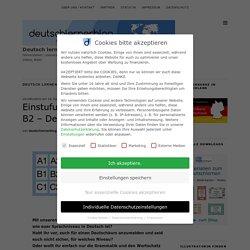 Einstufungstests Deutsch A1 bis B2 - Deutschtests - Deutsch lernen