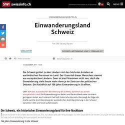 Einwanderungsland Schweiz
