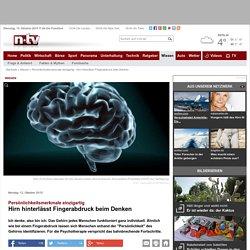 Persönlichkeitsmerkmale einzigartig: Hirn hinterlässt Fingerabdruck beim Denken