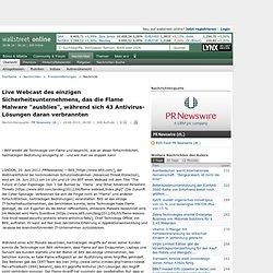 """Live Webcast des einzigen Sicherheitsunternehmens, das die Flame Malware """"ausblies"""", während sich 43 Antivirus-Lösungen daran verbrannten (20. Juni 2012, 09:00 Uhr)"""