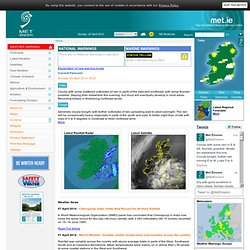 Met Éireann - The Irish Meteorological Service Online