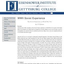 Eisenhower Institute at Gettysburg College - WWII Soviet Experience