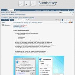 EitherMouse 0.64 - Multiple mice, individual settings... - AutoHotkey Community