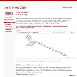 Eix cronològic - JordiÉvoleGitic