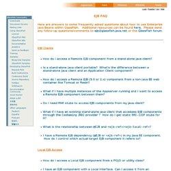 EJB FAQ — Java.net