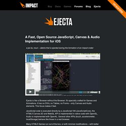 Ejecta - Impact