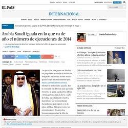 Arabia Saudí iguala en lo que va de año el número de ejecuciones de 2014