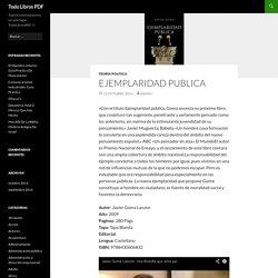 Ejemplaridad Publica - Todo Libros PDF