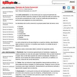 Ejemplo de Carta Comercial