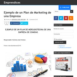 Ejemplo de un Plan de Marketing de una Empresa