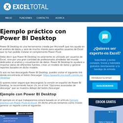 Ejemplo práctico con Power BI Desktop - Excel Total