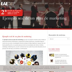 Ejemplo real de un plan de marketing - EAE