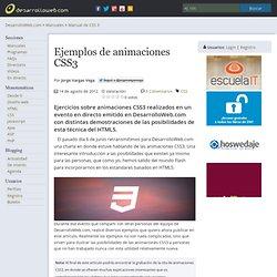 Ejemplos de animaciones CSS3