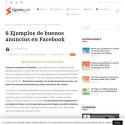 6 ejemplos de buenos anuncios en Facebook
