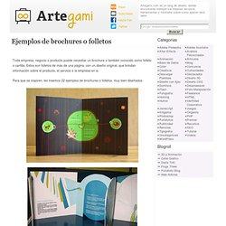 Ejemplos de brochures o folletos