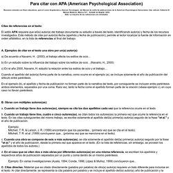 Ejemplos para citar con APA