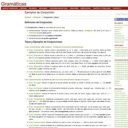 Ejemplos de Conjunción