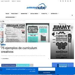 75 ejemplos de currículum creativos