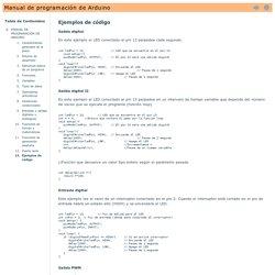 Ejemplos de código