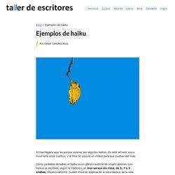 Ejemplos de haiku