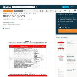 Ejemplos de guiones museológicos