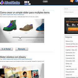 Ejemplos de Imagenes slider Javascript Grátis
